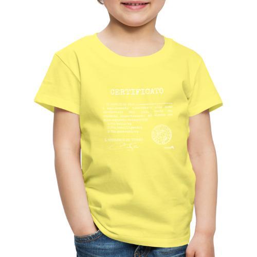 1.07 Certificato Piu Generico B (Aggiungi nome) - Maglietta Premium per bambini