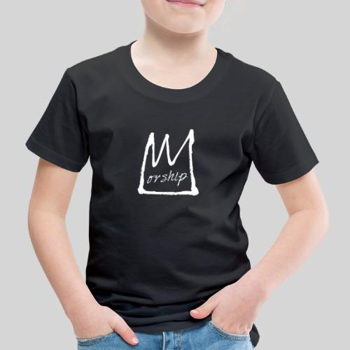 Worship Krone weiß - Lobpreis zu Jesus / Gott - Kinder Premium T-Shirt