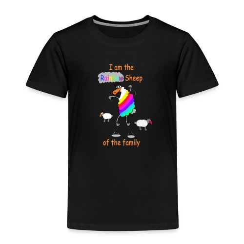 Rainbow Sheep of the Family - Kinder Premium T-Shirt