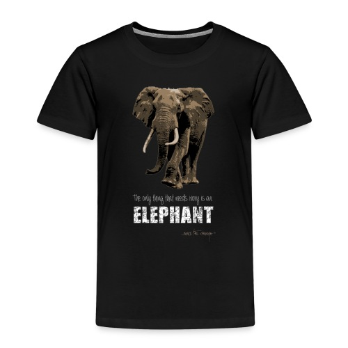 elephants need ivory - Kids' Premium T-Shirt