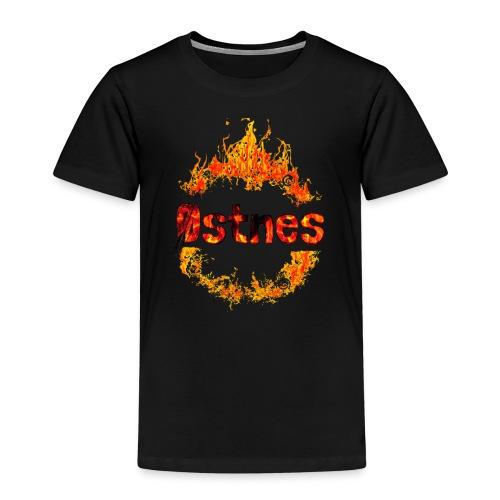 Østnes in flames - Premium T-skjorte for barn