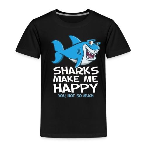 Sharks make me happy - Haifisch - Kinder Premium T-Shirt