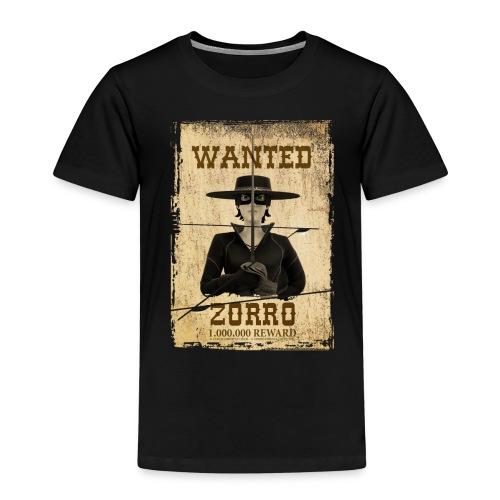 Zorro The Chronicles Western Plakat Wanted - Kinder Premium T-Shirt