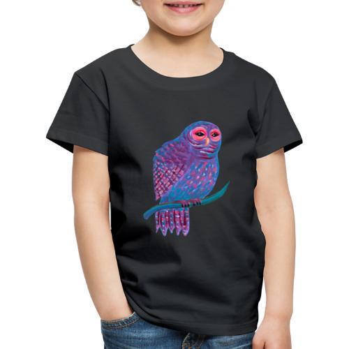 Söpö Violetti Pöllö - Lasten premium t-paita