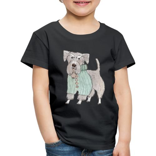 schnauzer with sweater - Børne premium T-shirt
