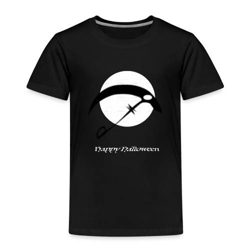 Halloween sickle in the night - Kinder Premium T-Shirt