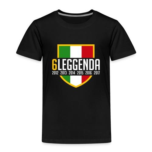 6LEGGENDA BLACK - Maglietta Premium per bambini