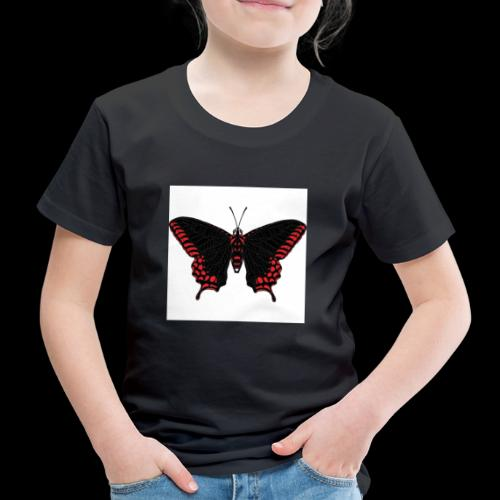 Black & Red Butterfly - Kids' Premium T-Shirt