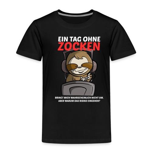 Ein Tag ohne Zocken Sloth - Kinder Premium T-Shirt