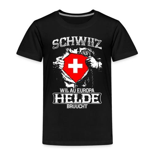 Schwiiz - Europa - Helde - Kinder Premium T-Shirt