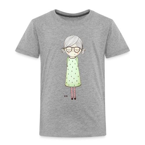 meisje met bril - Kinderen Premium T-shirt