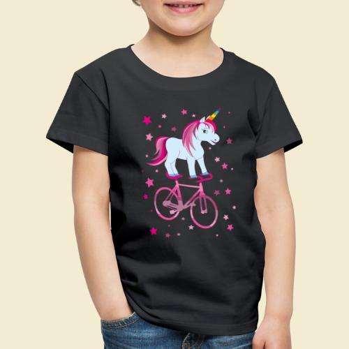 Kunstrad   Einhorn Pink - Kinder Premium T-Shirt