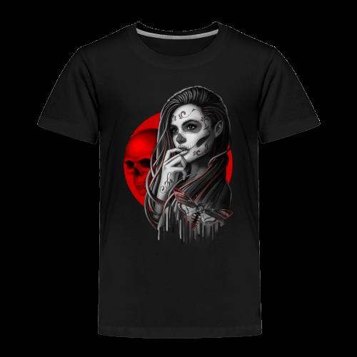 Sugar Skull Girl Hawk-Moth - Kids' Premium T-Shirt