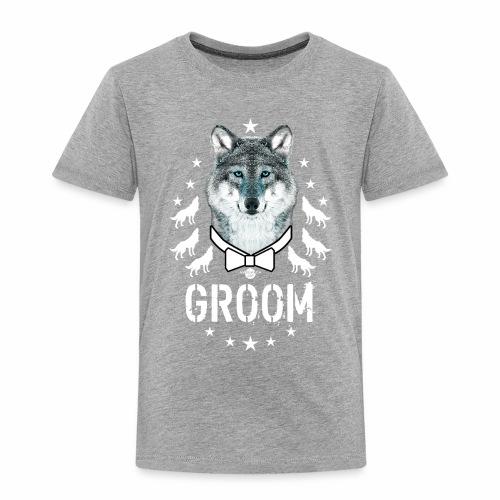161 Wolf JGA GROOM Wolfpack Sterne - Kinder Premium T-Shirt