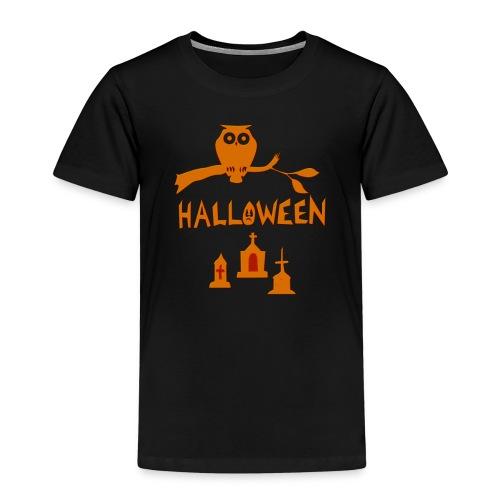 Spooky Halloween mit Eule - Kinder Premium T-Shirt