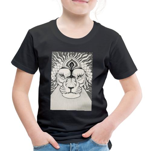 MandalArt Design - Lion - Kinderen Premium T-shirt