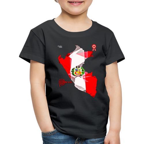 Mapa del Peru, Bandera und Escarapela - Kinder Premium T-Shirt