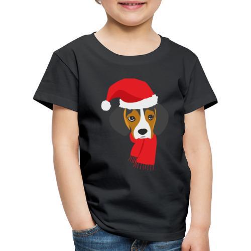 Cachorro de beagle vestido de Papa Noel - Camiseta premium niño