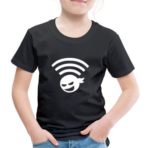 WiFi Ninja Symbol wlan Internet Verbindung - Kinder Premium T-Shirt
