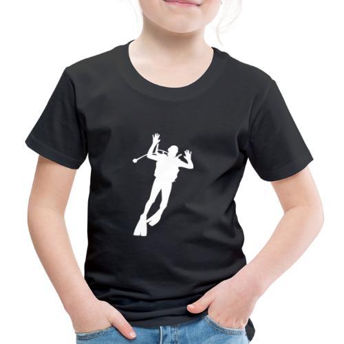 Taucher Silhouette Symbol Tauchen Urlaub - Kinder Premium T-Shirt