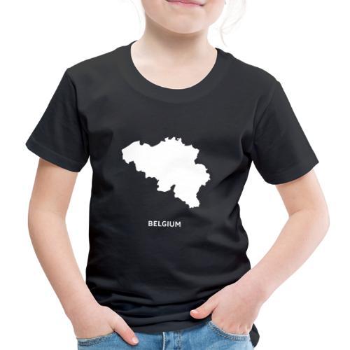 Europa Silhouette Symbol Belgien Land Staat - Kinder Premium T-Shirt