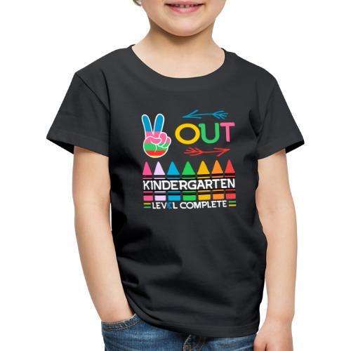 Peace Out Förskolan Färdig Med Denna Nivå Klar - Premium-T-shirt barn