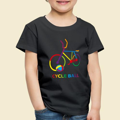 Radball | Cycle Ball Rainbow - Kinder Premium T-Shirt