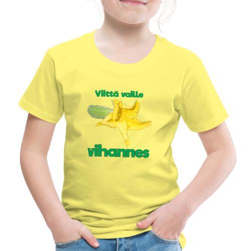 Viittä vaille vihannes, avomaankurkku - Lasten premium t-paita