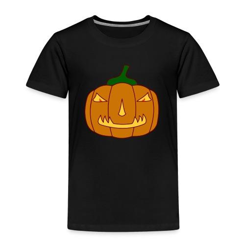 Halloween Kürbis mit Gruselgesicht - Kinder Premium T-Shirt