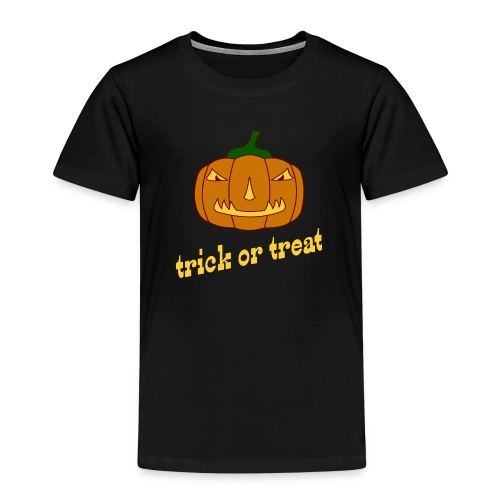 Halloween trick or treat mit Kürbis - Kinder Premium T-Shirt
