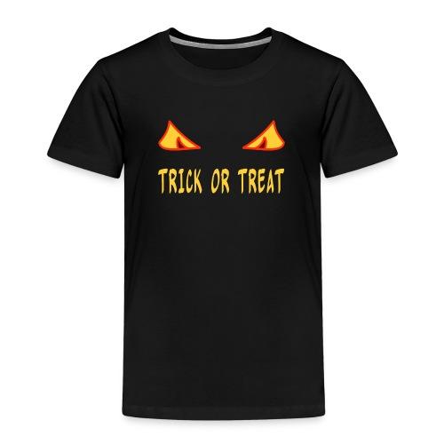 Halloween trick or treat mit Monsteraugen - Kinder Premium T-Shirt