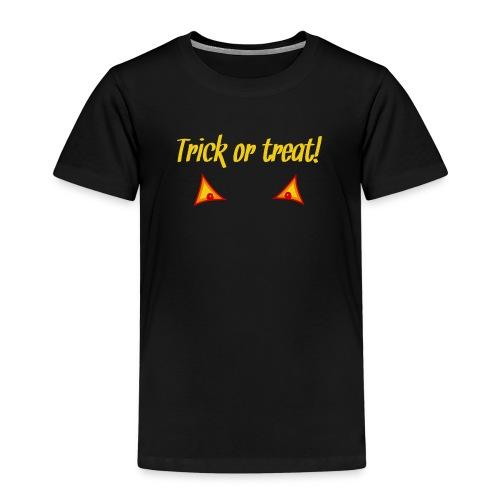 Halloween trick or treat mit Kürbisaugen - Kinder Premium T-Shirt