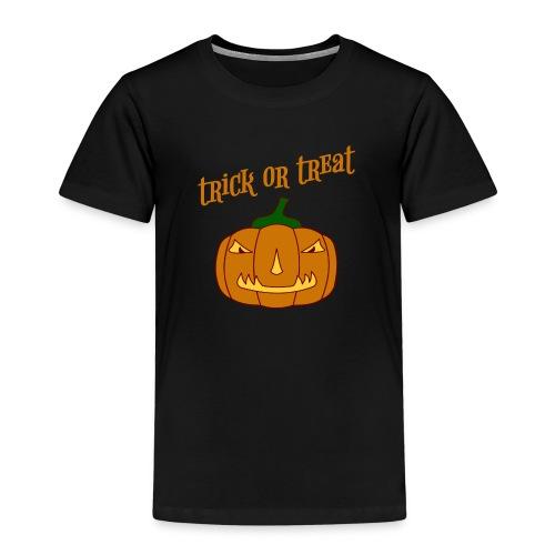 Halloween trick or treat und Kürbis - Kinder Premium T-Shirt