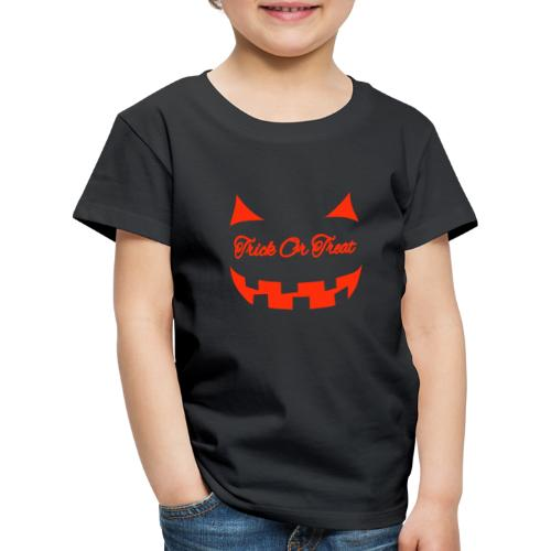 Halloween trick or treat und Gesicht - Kinder Premium T-Shirt