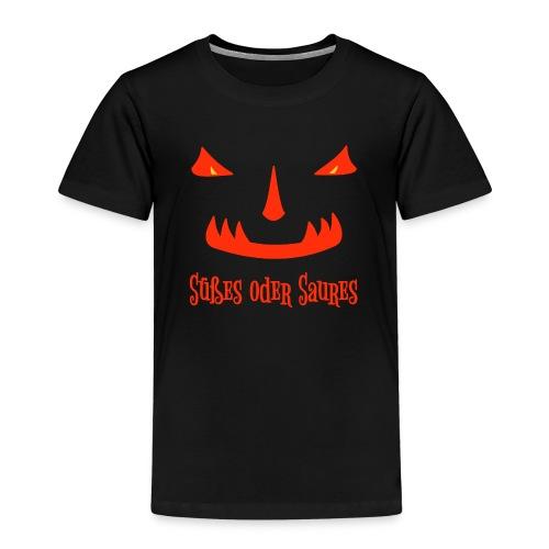 Halloween Süßes oder Saures mit Monstergesicht - Kinder Premium T-Shirt