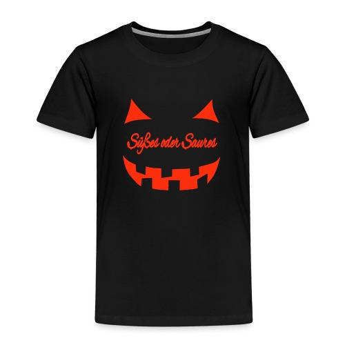 Halloween Süßes oder Saures mit Gruselgesicht - Kinder Premium T-Shirt