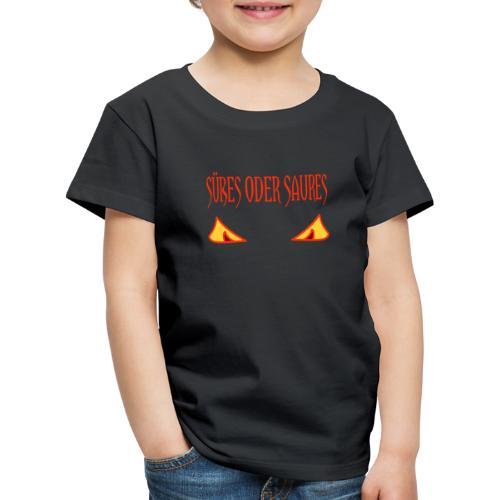 Halloween Süßes oder Saures mit Gruselaugen - Kinder Premium T-Shirt