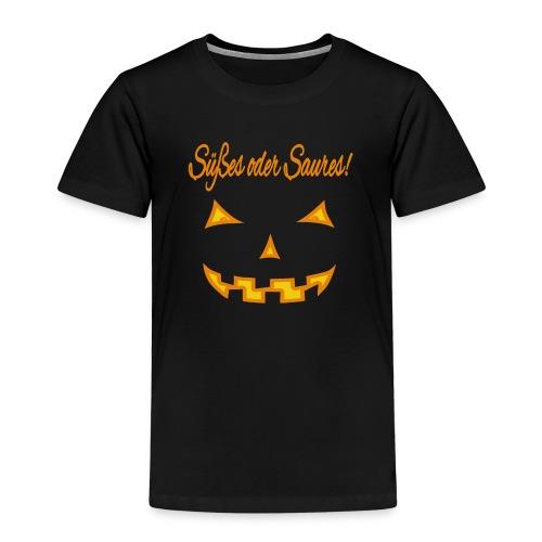 Süßes oder Saures mit Kürbisgesicht - Kinder Premium T-Shirt