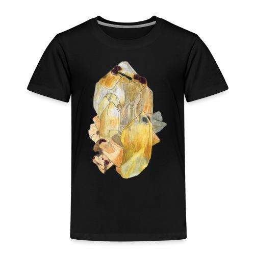 Bergkristall mit Granat - Kinder Premium T-Shirt