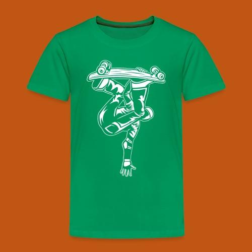 Skater / Skateboarder 03_weiß - Kinder Premium T-Shirt