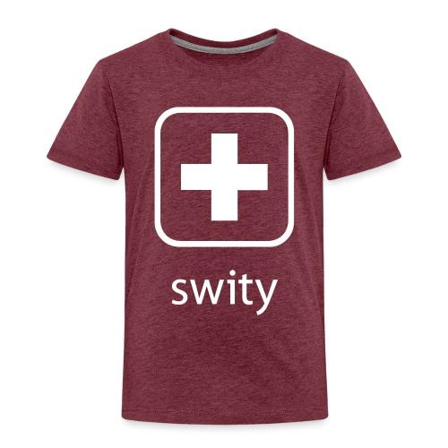 Schweizerkreuz-Kappe (swity) - Kinder Premium T-Shirt