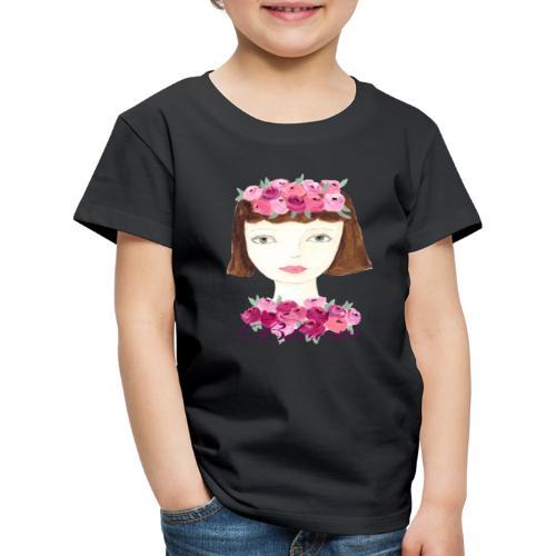 Flower Power Girl - Kinder Premium T-Shirt