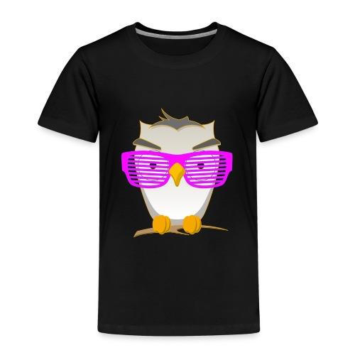 Eule Wald Vogel coole Nerdbrille Geek Big Bang Uhu - Kids' Premium T-Shirt