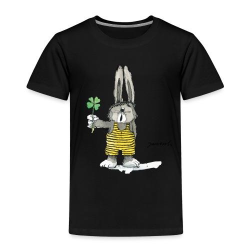 Janosch Hase Findet Sein Glück Kleeblatt - Kinder Premium T-Shirt