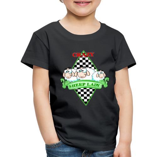 Crazy Sheeplady - Kinder Premium T-Shirt