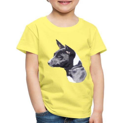 basenji black - Børne premium T-shirt