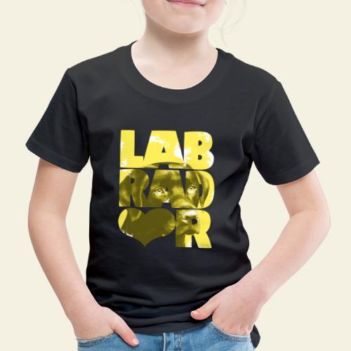 NASSU Labrador Brown I - Lasten premium t-paita