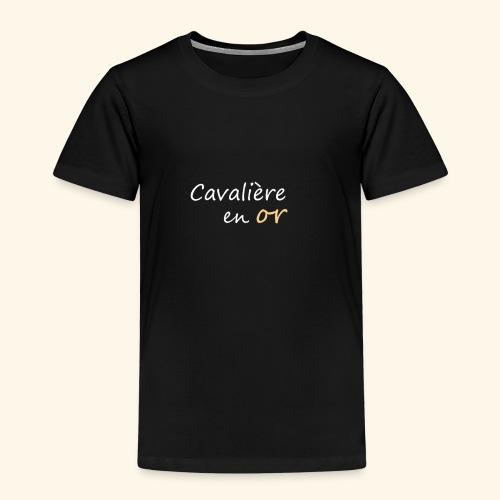 Cavalière en or - T-shirt Premium Enfant
