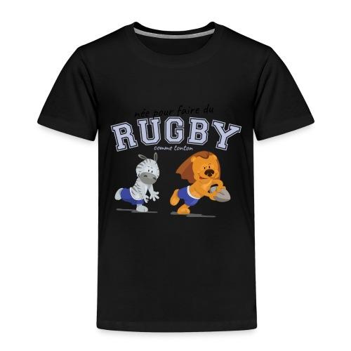 jouer au rugby comme tonton - T-shirt Premium Enfant