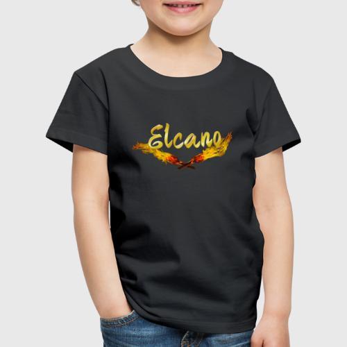 ELCANO Schriftzug mit Fackel - Kinder Premium T-Shirt